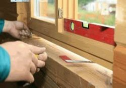 Установка деревянного окна