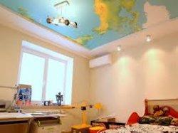 Монтаж натяжного потолка в детской комнате