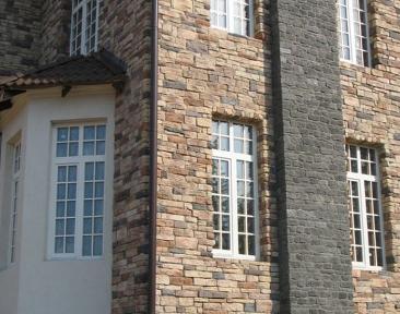 Различные варианты отделки фасада