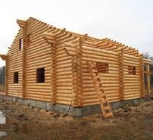 Строительство дома из оцилиндрованого бревна
