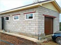 Строительство гаража из газобетонных блоков