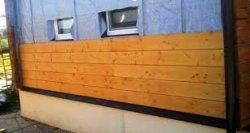 Отделка фасада деревянной вагонкой