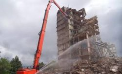 Особенности демонтажа высотных зданий
