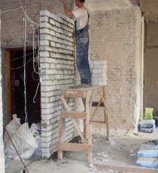 Как построить перегородку из силикатного кирпича