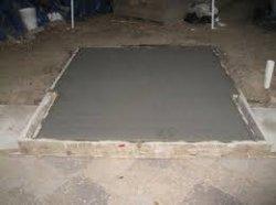 Бетонный фундамент под кирпичную печь