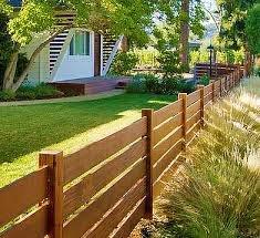 Как построить низкий деревянный забор