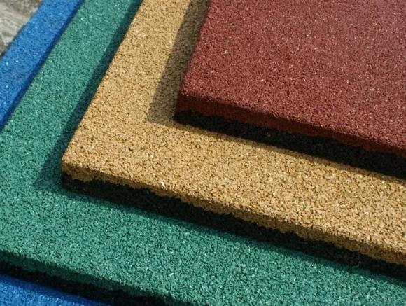 Сфера применения резиновой плитки