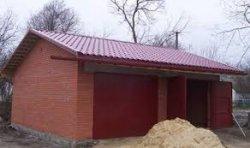 Как построить гараж из кирпича собственноручно