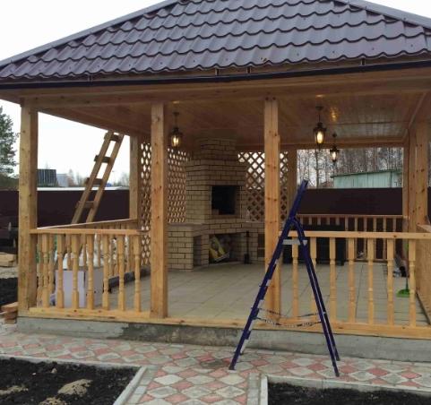 Как построить деревянную беседку самостоятельно