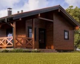 Что такое одноэтажные дома из бруса