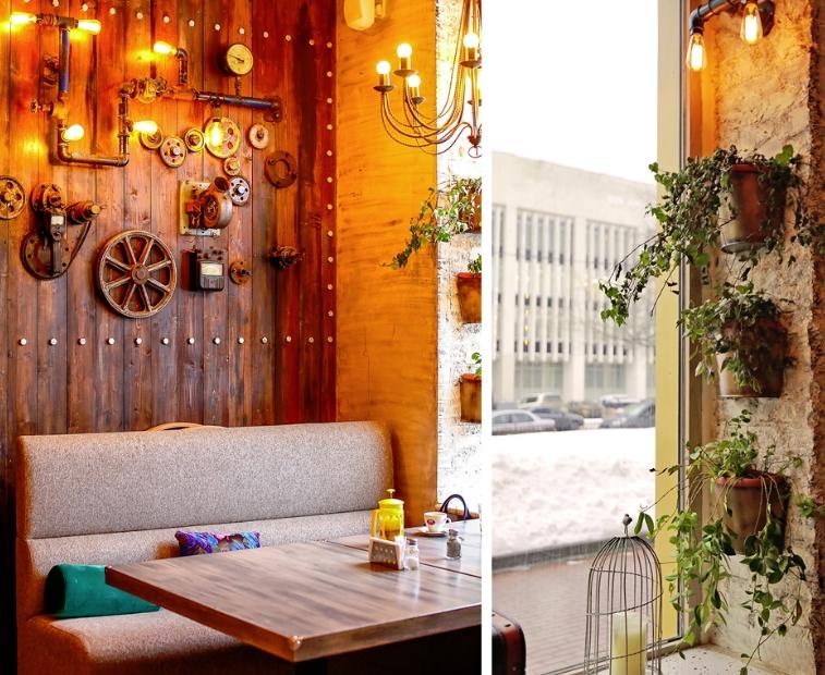 Как оформить стены в кафе