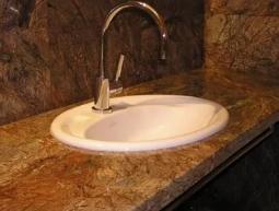 Мраморный умывальник из искусственного камня №1 для ванной комнаты